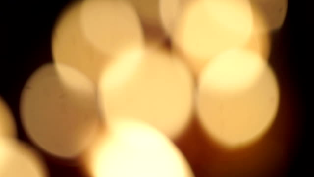 Defocused Candle Lights.