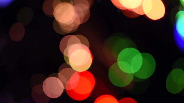 defocused christmas lights on november 30, 2020 in essex, england. - christmas decoration stock videos & royalty-free footage