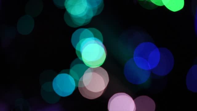 defocused christmas lights on november 30, 2020 in essex, england. - christmas tree stock videos & royalty-free footage