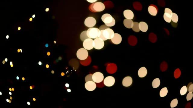 defocused christmas lights - month stock videos & royalty-free footage