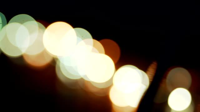 Lumières d'arbre de Noël sans mise au point