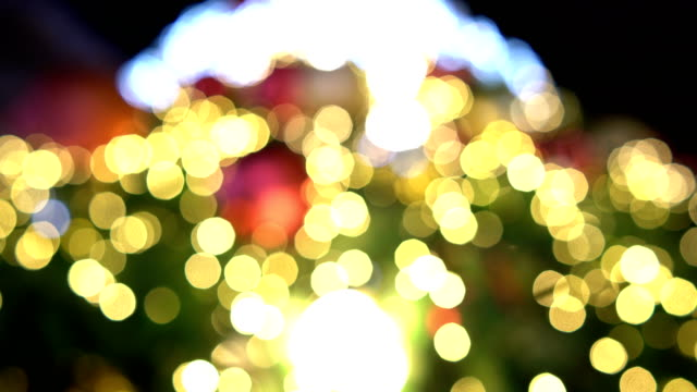 Defocused Christmas tree.