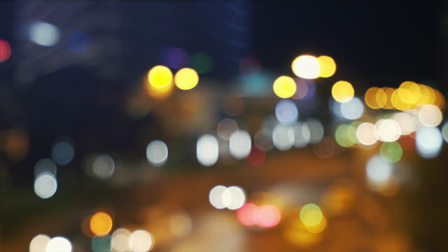 Defocused city background at night.