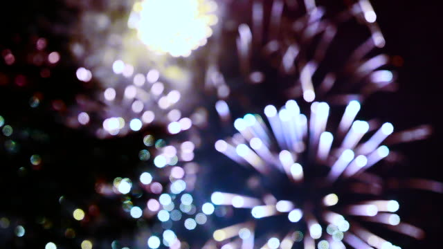 Defocused Fireworks Show