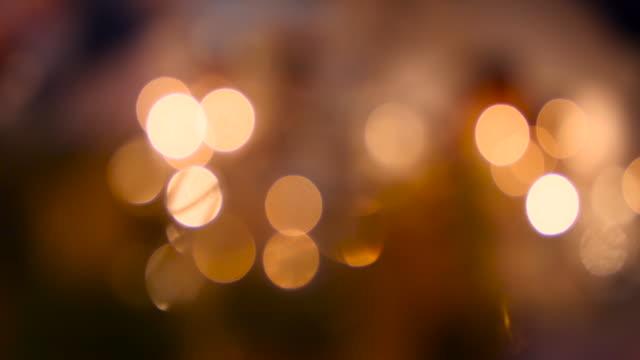 Defocused flickering Light.