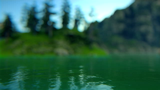 Defocused lake