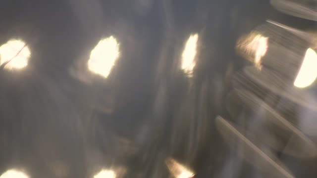 Defocused light bulbs. Abstract background. Video clip. Slow Motion.