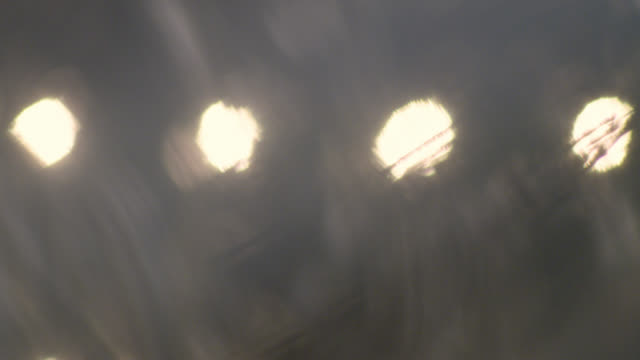 Defocused light bulbs. Abstract background. Video clip.