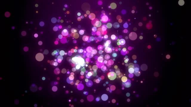 vidéos et rushes de sans mis'au point des lumières en boucle - surexposition effet visuel