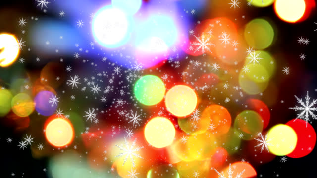 defocused lights - christmas lights stock videos & royalty-free footage
