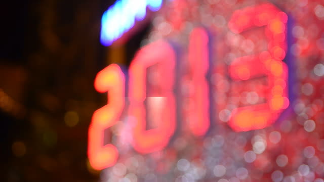 defocused new year 2013 celebration - 2013 stock videos & royalty-free footage