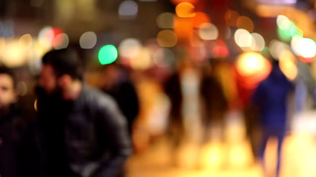 Defocused of Busy Walking at Night