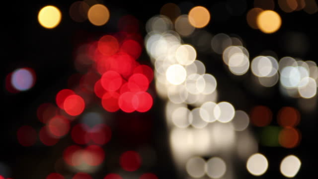 Defocused of Car's light.
