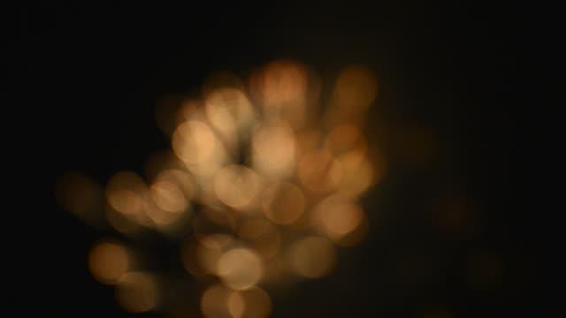 defocused of firework - realisticfilm stock videos and b-roll footage