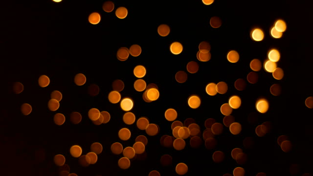 Defocused of Floating Lantern in Yi Peng Festival, Chiang Mai Province, Thailand