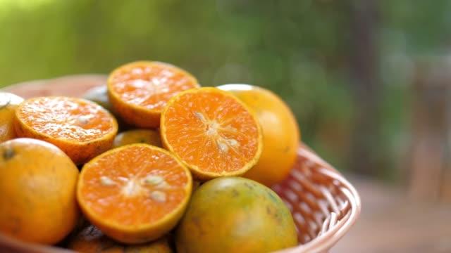 Defocused of Fresh Orange