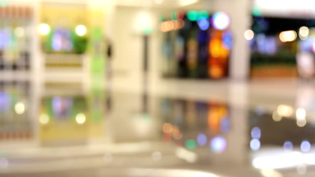 defocused of shopping mall - lobby stock videos & royalty-free footage