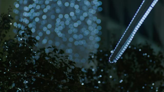 defocused outdoor christmas lights, oxford street - focus on foreground stock videos & royalty-free footage
