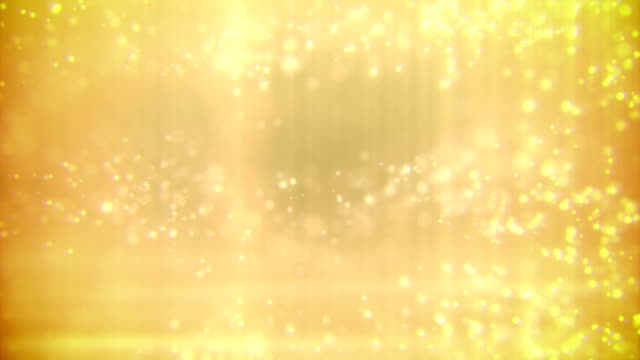 Defocused Particles Background (Gold) - Loop