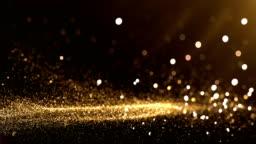Defocused Particles Background (Gold) - Loop