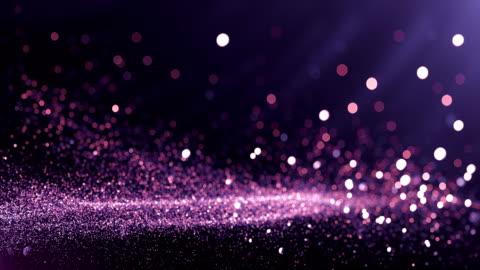 defocused particles background (purple) - loop - celebration event stock videos & royalty-free footage