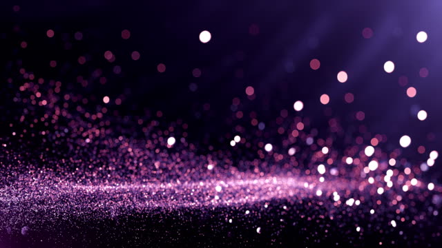 defocused particles background (purple) - loop - scintillante video stock e b–roll