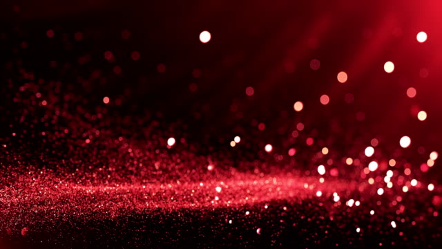 vídeos de stock e filmes b-roll de defocused particles background (red) - loop - vermelho