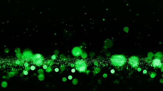 vídeos y material grabado en eventos de stock de fondo de partículas desenfocadas (loopable) - juntar los puntos