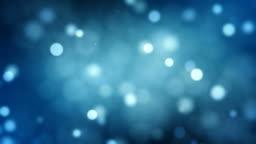 Defocused particles, Standard. Blue, Brown, Green. Loopable.