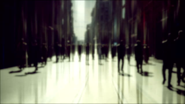 defocused people background - blurred motion stock videos & royalty-free footage