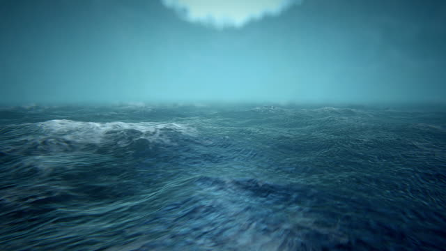 Defocused rough seas