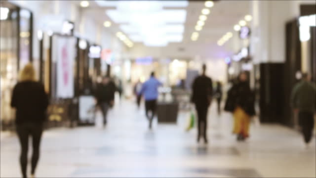 defocused shopping center background - sweden stock videos & royalty-free footage