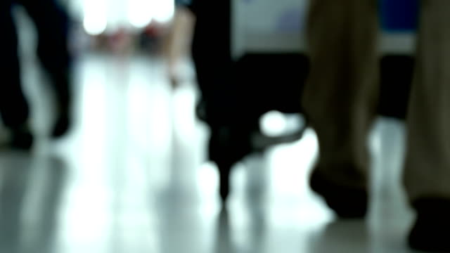 la defocused shot of airport check in terminal - wide shot stock videos & royalty-free footage