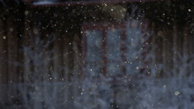 defocused snow twinkles and glitters - paranormal stock videos & royalty-free footage