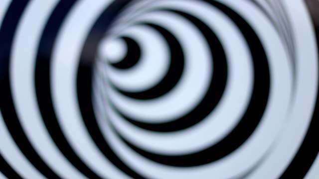 Defokussierten drehende Spirale, Abstraktion, schwarz und weiß