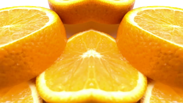 vidéos et rushes de défocalisé, surréel abstraite animation graphique - orange fruit