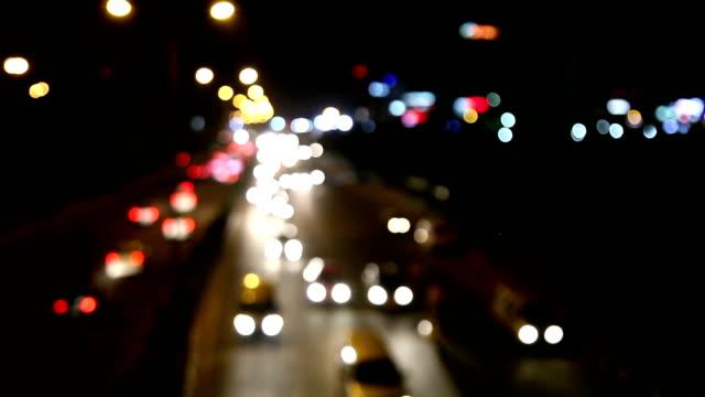 Oskärpa trafik bakgrund
