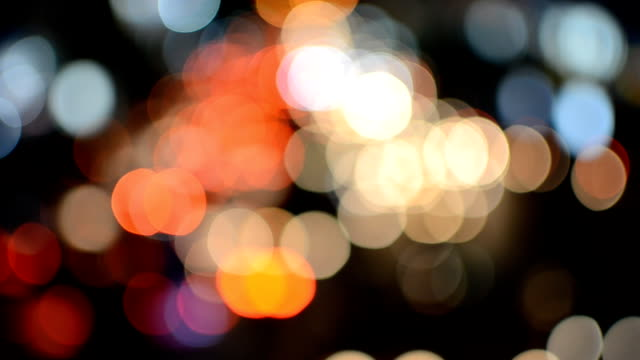 Defocused traffic lights