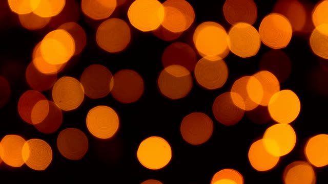 Defocused Yellow Christmas Light