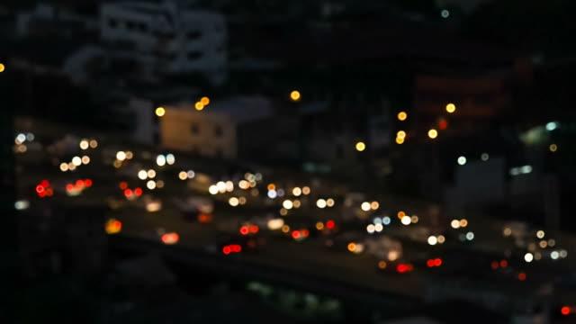 交通渋滞のボケ - traffic jam点の映像素材/bロール