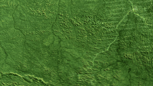 deforestation, brazil, 1975-2001. this series of landsat satellite images shows the deforestation in the rondonia region of brazil over 26 years - industria forestale video stock e b–roll