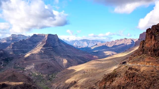 degollada de la yegua views - gran canaria time lapse - grand canary stock videos and b-roll footage