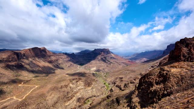 vídeos de stock e filmes b-roll de degollada de la yegua views - gran canaria time lapse - desfiladeiro