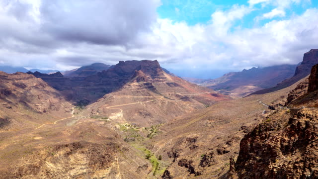 degollada de la yegua views - gran canaria time lapse - canyon stock videos & royalty-free footage