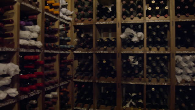 pan 360 degree pan of historic wine cellar - wine bottle stock videos & royalty-free footage