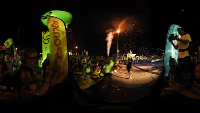 A 360 degree view of the start of the Bangkok Midnight Marathon on May 20th 2017