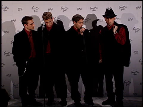 98 Degrees at the 1999 American Music Awards press room at the Shrine Auditorium in Los Angeles California on January 11 1999