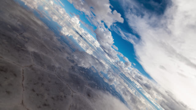 180 degrees rotation timelapse of uyuni salt flat, bolivia - upside down stock videos & royalty-free footage