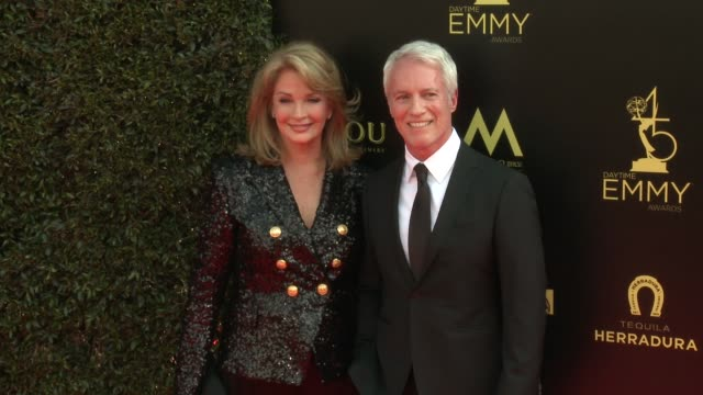 deidre hall and greg meng at the 2018 daytime emmy awards at pasadena civic auditorium on april 29 2018 in pasadena california - daytime emmy preisverleihung stock-videos und b-roll-filmmaterial
