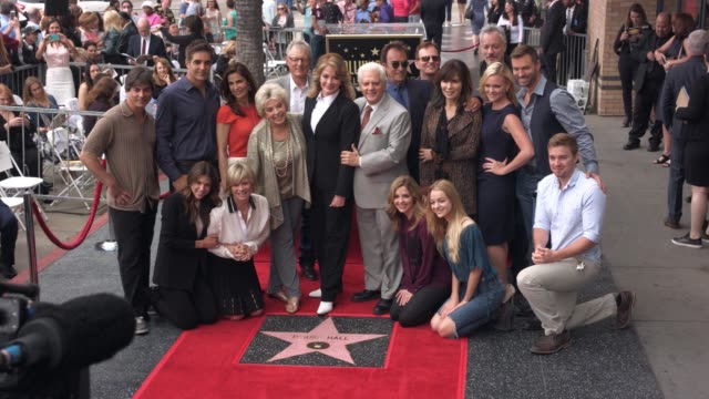 deidre hall and the cast of days of our lives at hollywood walk of fame on may 19 2016 in hollywood california - deidre hall stock videos and b-roll footage